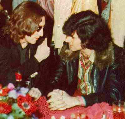 Uri Geller with John Lennon