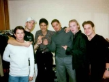 Uri Geller with Boyzone & Ronan Keating