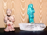 This ancient egyptian blue statue materialized