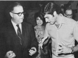 At a party with Abba Eban in 1971