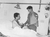 Visiting an Israeli friend wounded near me during the Six-Day War