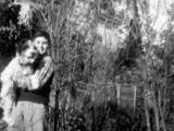 Uri Geller with his dog called joker.