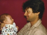 Brother-in-law Shipi with Daniel days after he was born