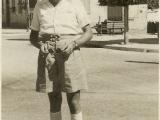 Uri's Father Tibor standing in the main Tel Aviv square