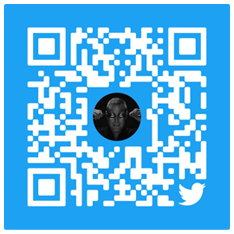 Scan to follow Twitter
