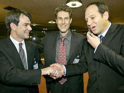 Geneva, Switzerland 2005. With The state department's top legal adviser, John Bellinger and Dr. Noam Yifrach