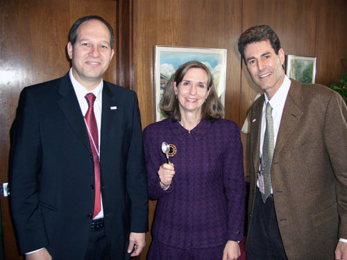 Washington DC, State Department 2006. With Dr. Noam Yifrach and Paula Dobriansky - Under Secretary of State	for Democracy and Global Affairs.