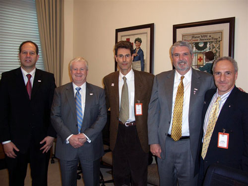 Washington DC, State Department 2006. From L of R Dr. Noam Yifrach, Jack McGuire, Interim CEO of the American	Red Cross, Alan McCurry, Executive Vice President American Red Cross	and Yonathan Yagodovsky, MDA