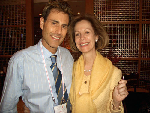 Seoul, Korea 2005. Bonnie McElveen-Hunter, Ambassador of the United States of America and Chairman of the US Red Cross.
