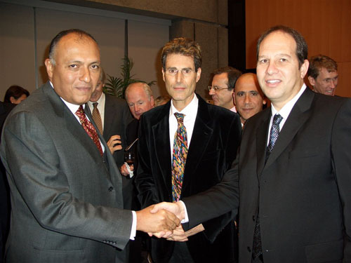 Geneva, Switzerland 2005.  Egyptian Ambassador Sameh H. Shoukry