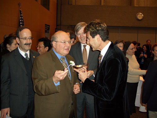 Geneva, Switzerland 2005. L to R With Congressman Eliot L. Engel and Congressman Gary L Ackerman