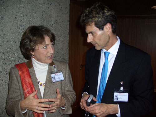 Geneva, Switzerland 2005. Uri with Princess Margaret of Holland