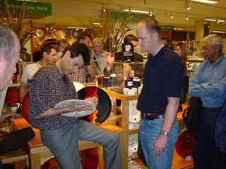 Uri Launching his Poole Pottery Range at John Lewis London