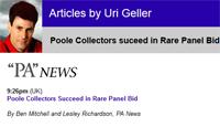Poole Collectors suceed in Rare Panel Bid