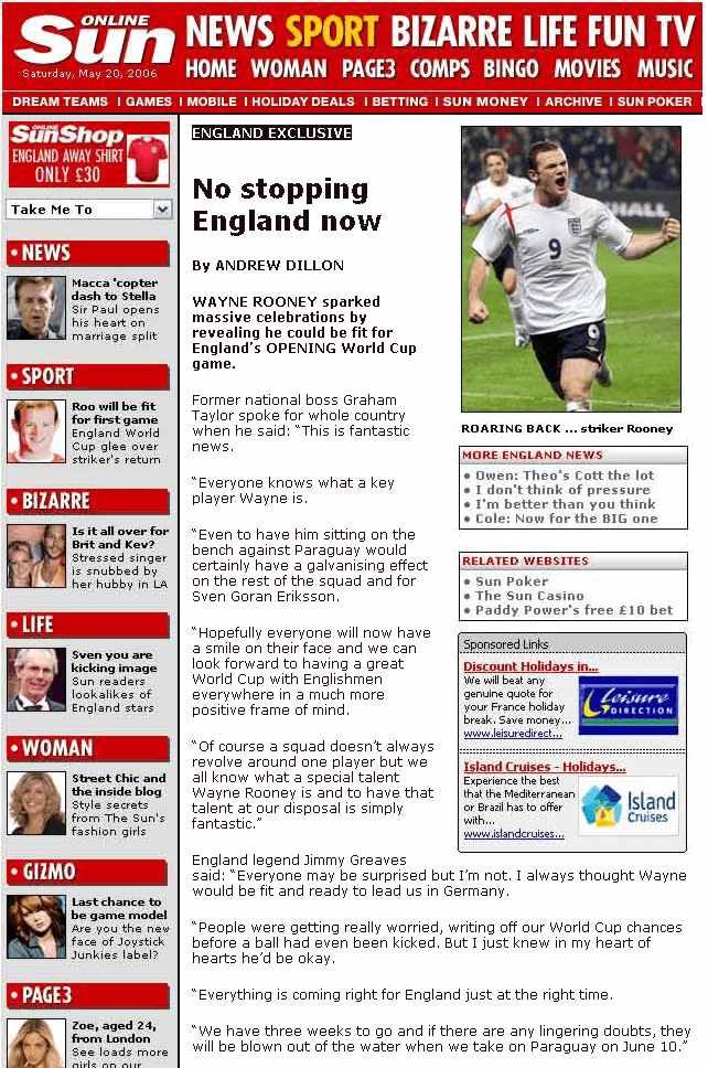 No Stopping England Now!
