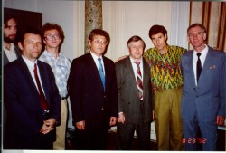 Uri with Russian Scientists