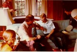 Uri Geller with Edgar Mitchell.