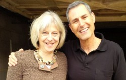 Theresa May and Uri Geller.