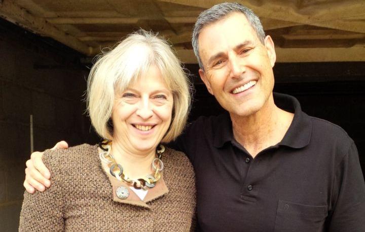 Theresa May and Uri Geller.