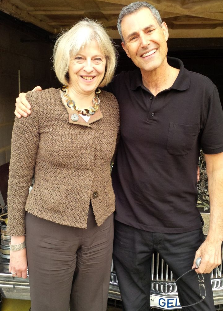 Theresa May With Uri Geller