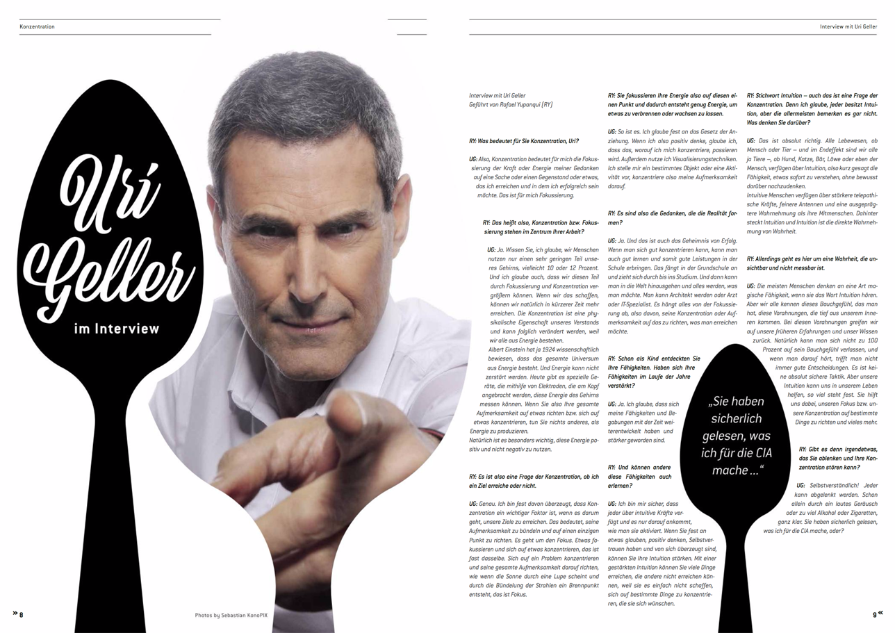 Interview Mit Uri Geller.