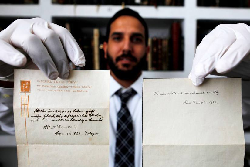 Einstein Letter Sold at Auction.