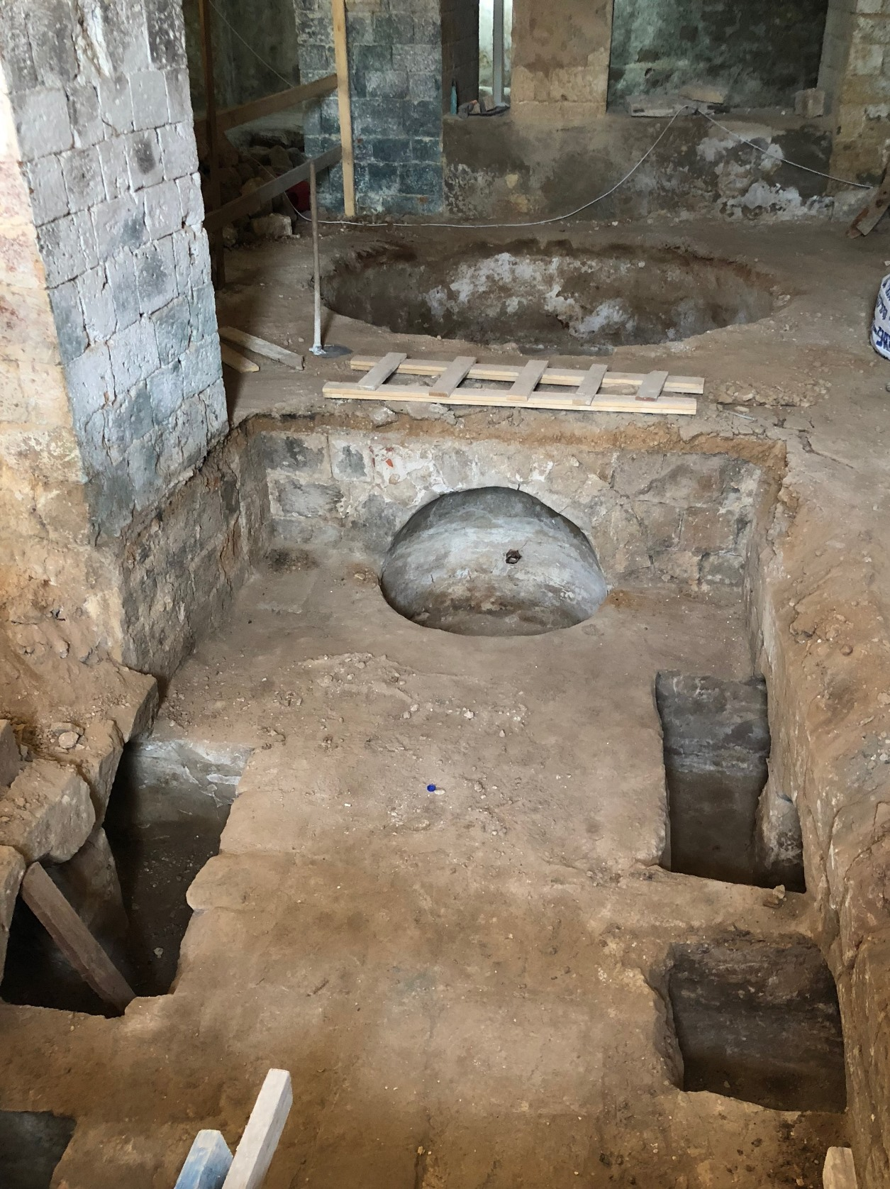The soap factory unearthed in the Ottoman structure in Jaffa. Photo by Dlila Bar-Ratson/IAA