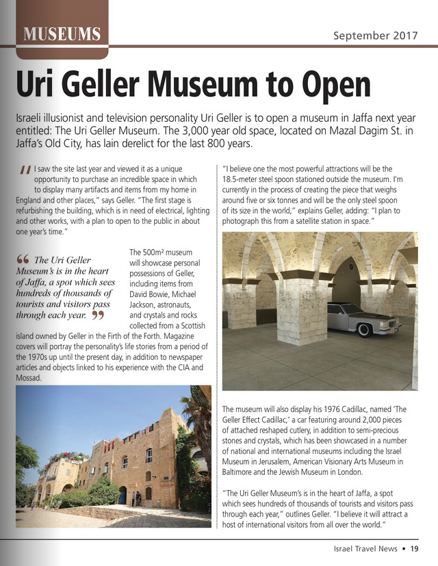 New Uri Geller Museum - Israel Travel News.