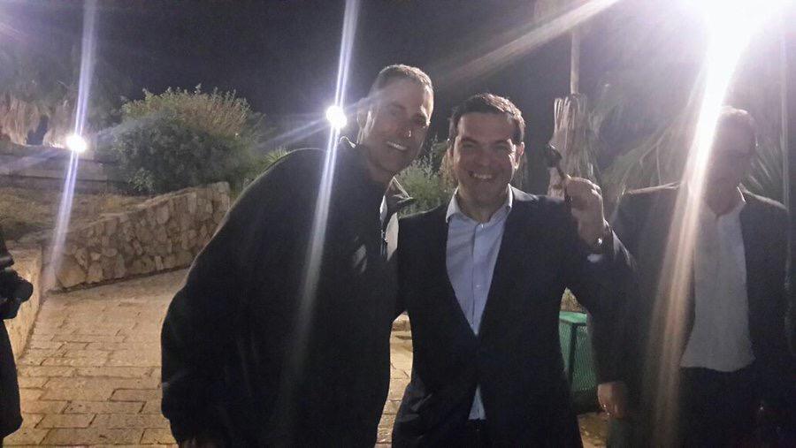 Alexis Tsipras Meeting Uri Geller