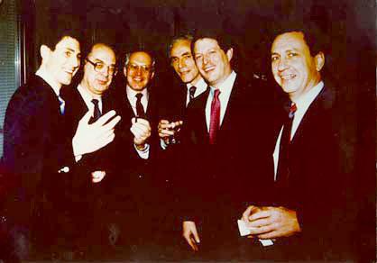 Uri Geller with Vice President Al Gore, Yuli M. Vorontsov,